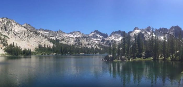 Alice Lake is actually one of the largest lakes in the Sawtooths, and is part of the 18-mile Alice-Toxaway Loop.