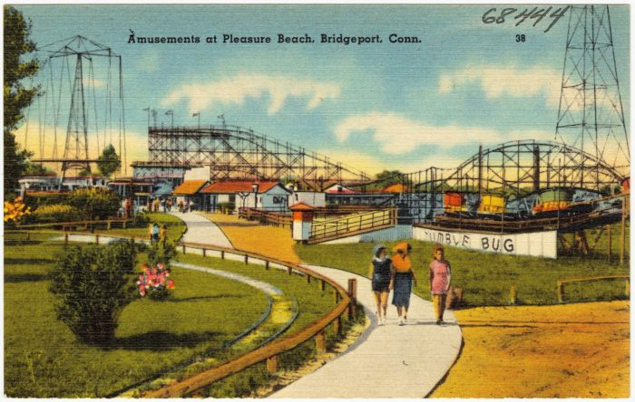 Founded in 1892, Pleasure Beach in Bridgeport was originally an amusement park.