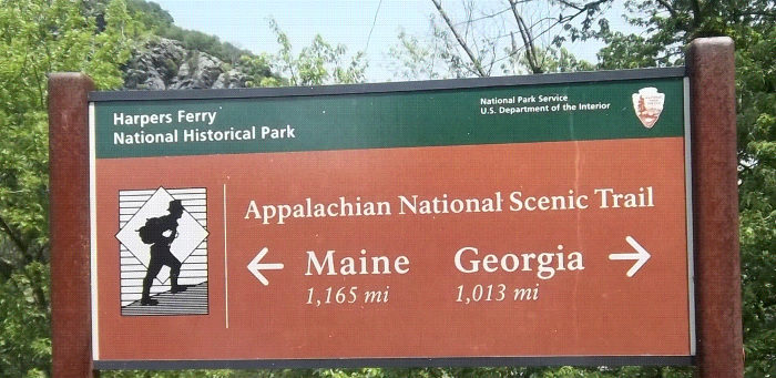 You'll see a sign marking this spot in the trail between Maine and Georgia.