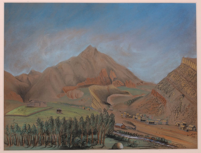 ...as well as lovely reproductions of watercolors by geologist Arthur Lakes.