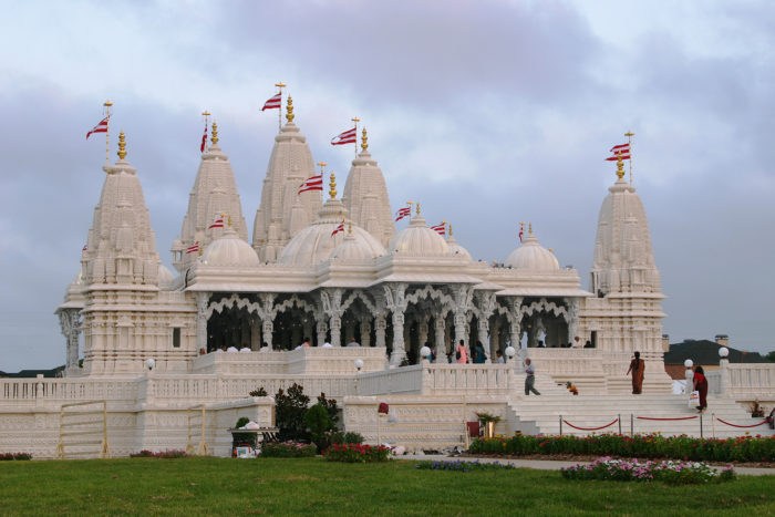 9. The breathtaking BAPS Shri Swaminarayan Mandir Temple is the first of its kind in the nation.