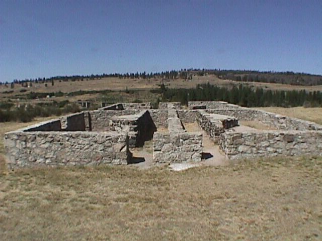 2. This is all that remains of the Bachelor Officers' Quarters at Fort Spokane Military Reservation in the Lake Roosevelt National Recreation Area.