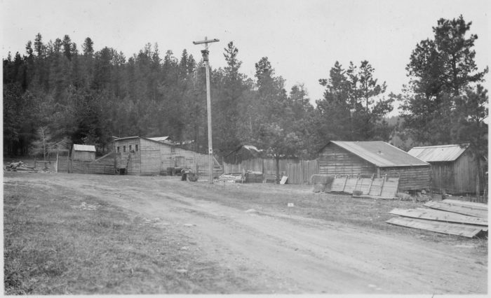 4. Farm buildings in the Black Hills, late 1930s