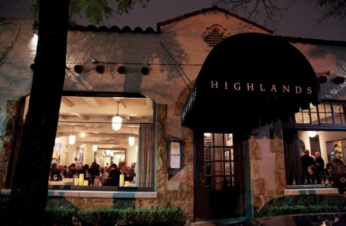 For a fine dining experience, you'll want to make a reservation at Highlands Bar & Grill.