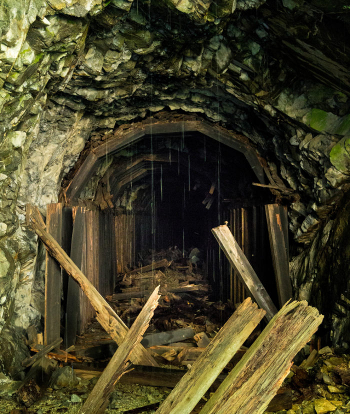 Collapsing train tunnel - Iron Goat Trail-14204007481