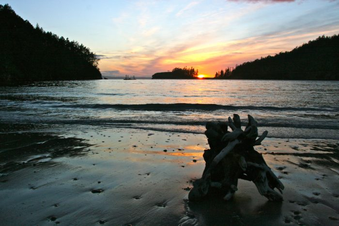 6. Take a ferry to Whidbey Island, drive north and explore Deception Pass State Park.