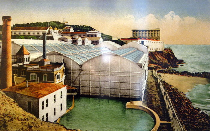 The baths opened to the public on March 14, 1896. At the time, they encompassed the world's largest indoor swimming pool.