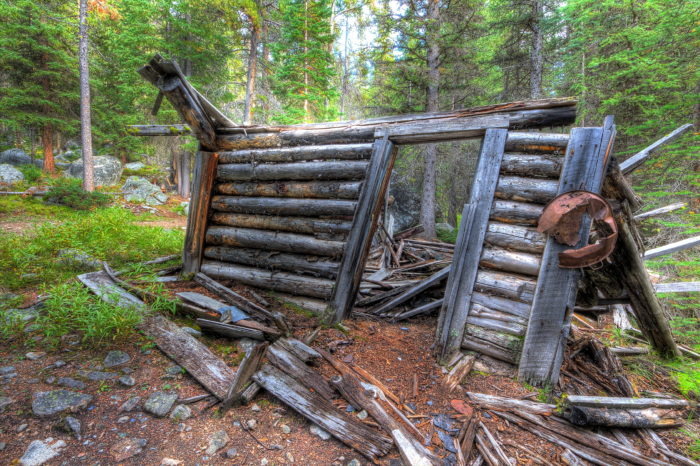 6. This is all that remains of a cabin at the Coolidge Ghost Town.
