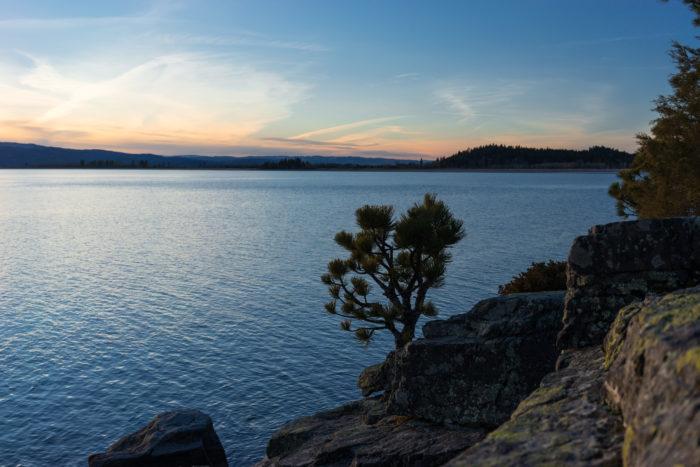 2. Go boating on Flathead Lake.