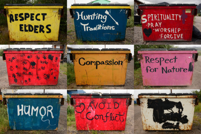 6. Dumpster art.
