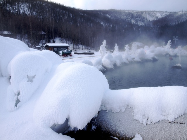 10. While outsiders are worried about the cold, we beat the chill factor by enjoying a good soak in many of the natural hot springs.