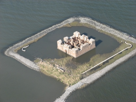 This fort can be found on the shores of Lake Borgne, north of Bayou Yscloskey.