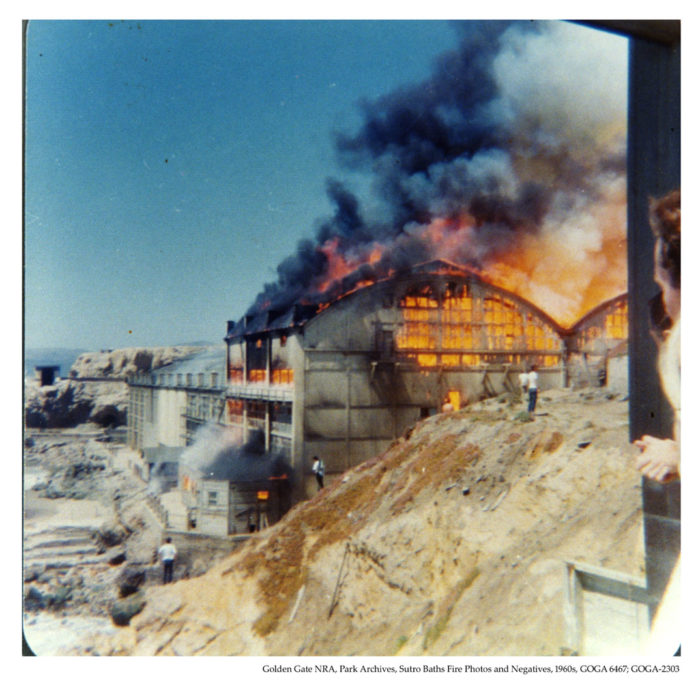 After decreasing in popularity and struggling to keep a profit, the baths closed with plans to build condos in the area, but soon after, in June 1966, the baths went up in flames.