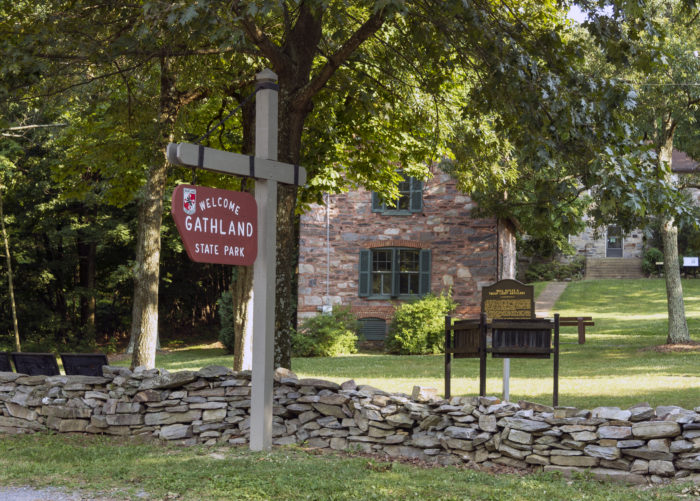The Appalachian National Scenic Trail passes through Gathland State Park so many visitors hike parts of the trail or camp overnight on the trail after touring the memorial and buildings.