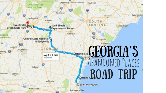 Georgias Most Abandoned Places Road Trip - Georgia map milledgeville