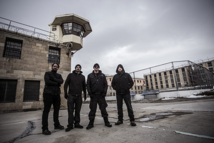 GhostAdventures_The Ghost Adventures team investigates the Nevada State Prison. Left to right - Jay Wasley, Aaron Goodwin, Zak Bagans, Billy Tolley