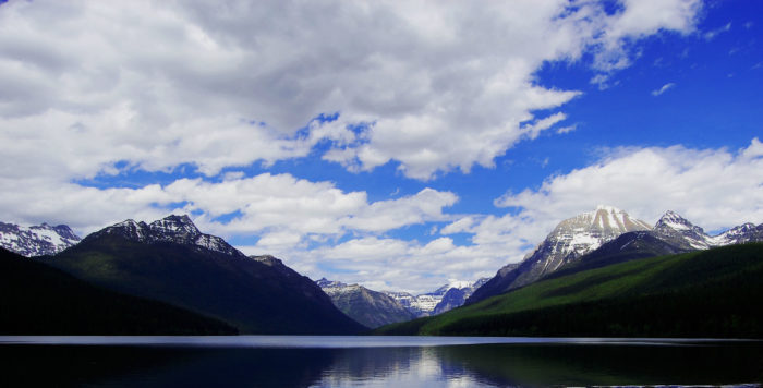 4. A beautiful shot of Glacier National Park in early summer.