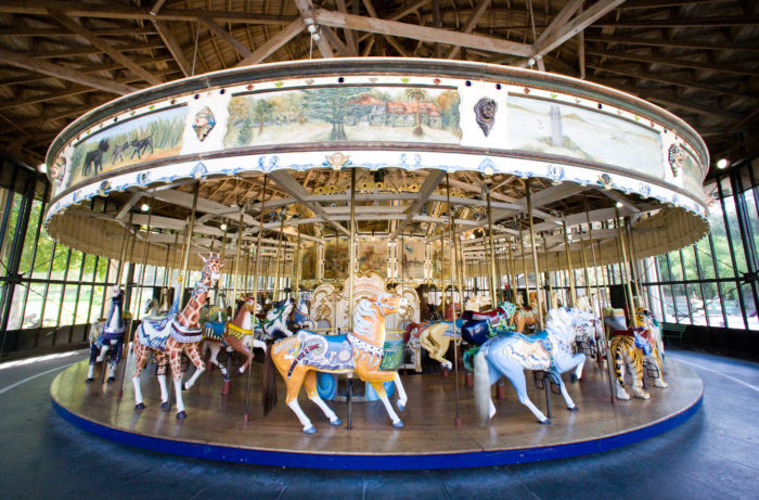 6. Ride the century-old carousel.