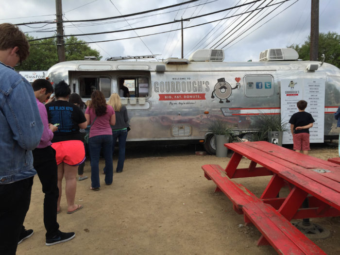 This small airstream trailer on South First street is greeted by hordes of donuts lovers every day.
