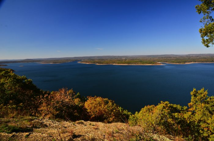 Greers Ferry Lake is just six miles north of Heber Springs, and it's absolutely gorgeous.