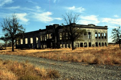 1. Hanford High School is one of six buildings with ruins remaining on the old Hanford nuclear site.