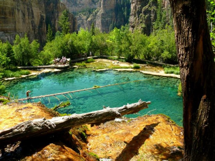 Legend has it that Hanging Lake was originally discovered by a man in search of gold, instead finding a gulch that lead to the backend of the lake.