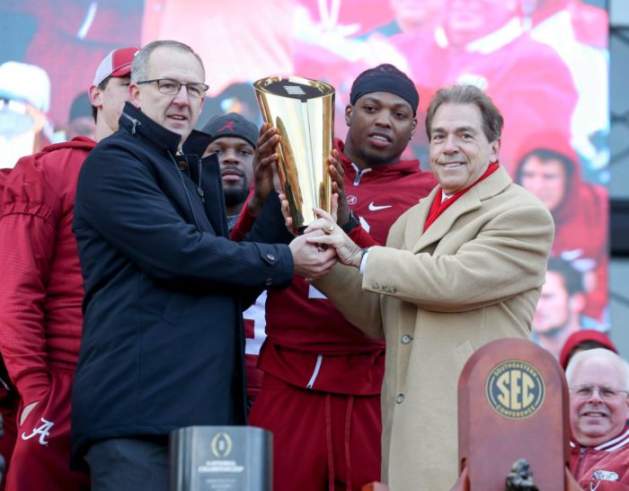 4. When it comes to college football, Alabama is the BEST. The Alabama Crimson Tide has won more national championships than any other college football team, and they're currently the reigning national champions.