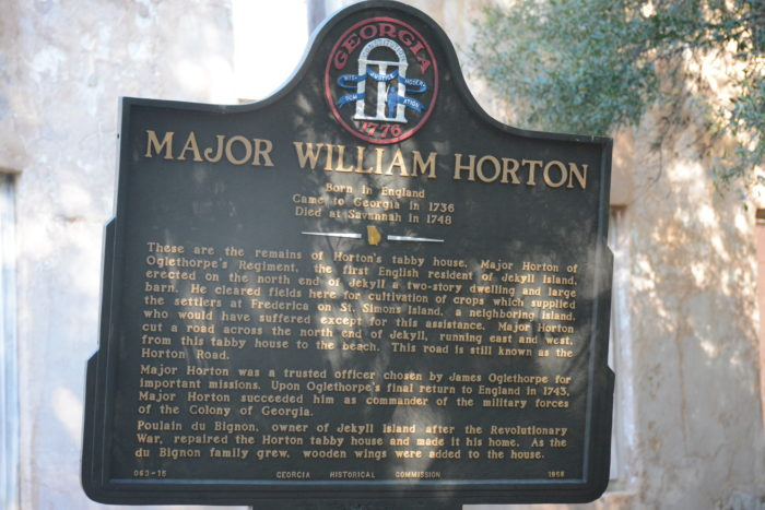 Major William Horton was also a beer enthusiast, and built the very first brewery in Georgia on this property.