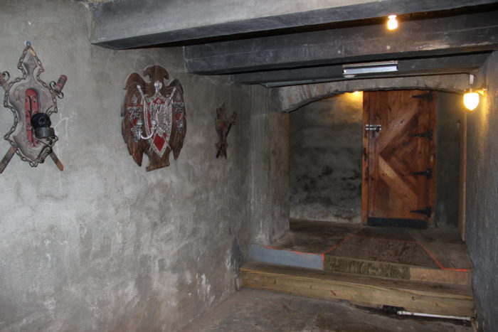 ...and just like any castle, you'll find a dungeon downstairs.