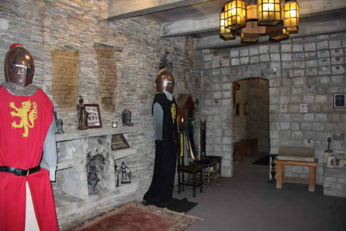 Upstairs, you'll find suits of armor and several other rooms.