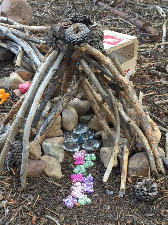 You'll find all kinds of fairy houses here...