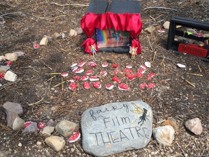 There's even a little fairy film theatre!