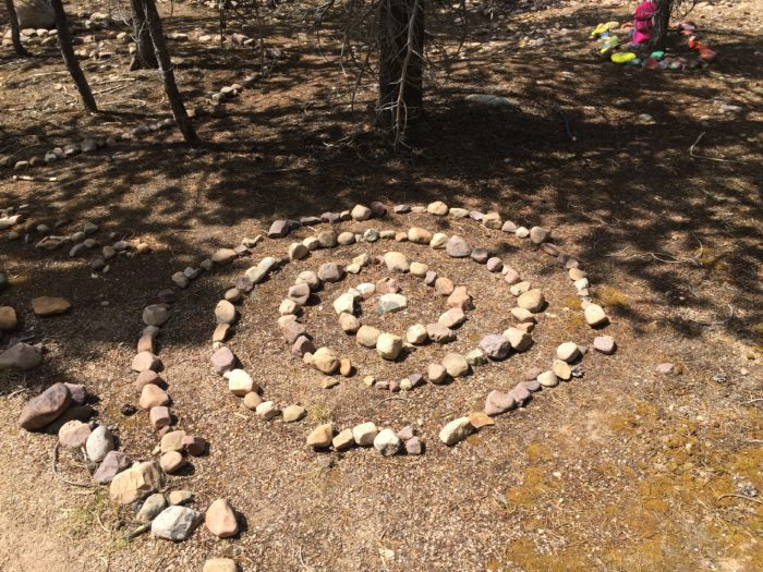 Here's a fairy version of Utah's Spiral Jetty.