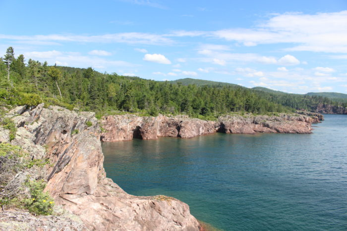 The bays to the North are unreal - the water is crystal clear on the shore and sinks into a deeper teal blue.