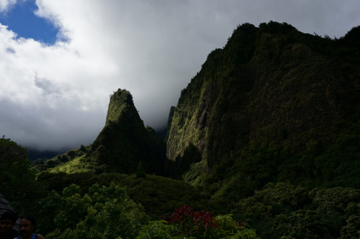 The fern covered lava formation rising 1,200 feet from the valley's floor was formed from millennia of erosion of the softer rock surrounding the peak, and is deeply rooted in Hawaiian culture.