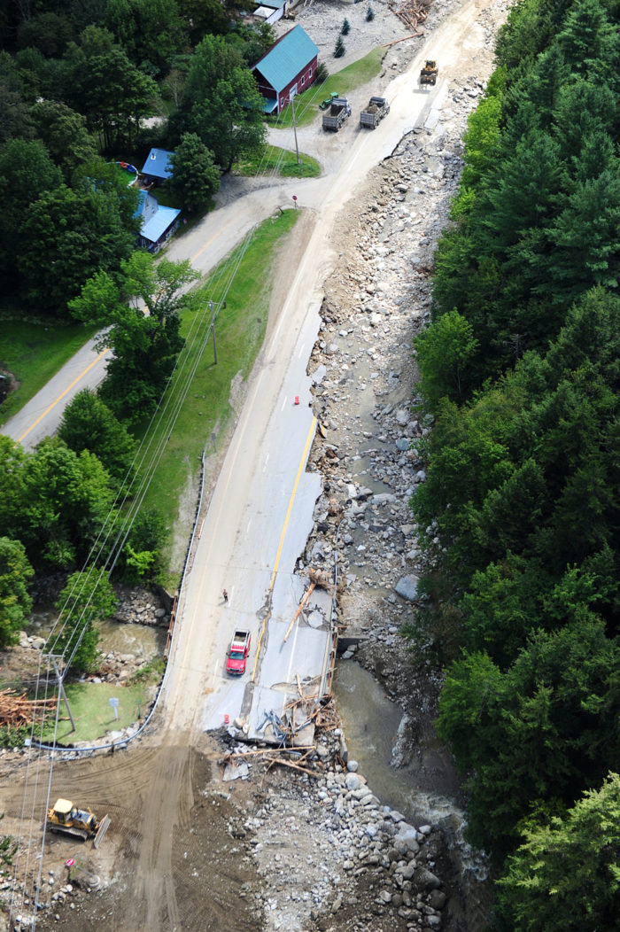 Route 4 / Route 100 South of Killington was completely destroyed.