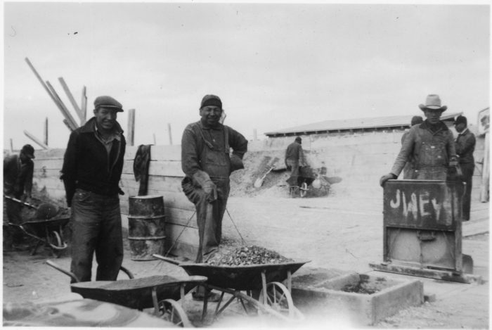 1. Men working on the Oglala Dam project, 1940