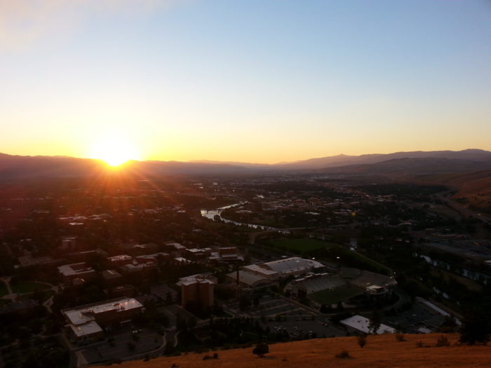 6. See a sunrise (or sunset) from the top of the M Trail in Missoula.