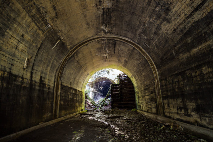 6. The Iron Goat Trail Tunnel has a few amazing abandoned trail tunnels.