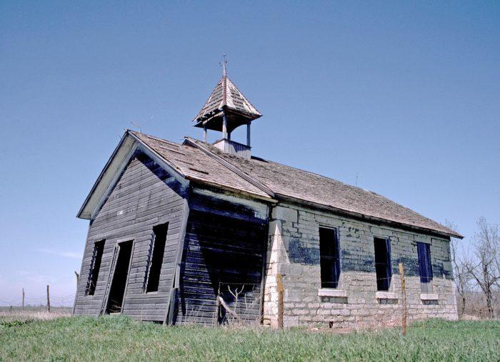 20. Crumbling school, Pawnee County