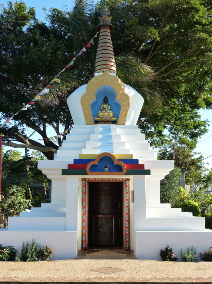 You'll want to stop at the Paia Peace Stupa for a quick visit as well.