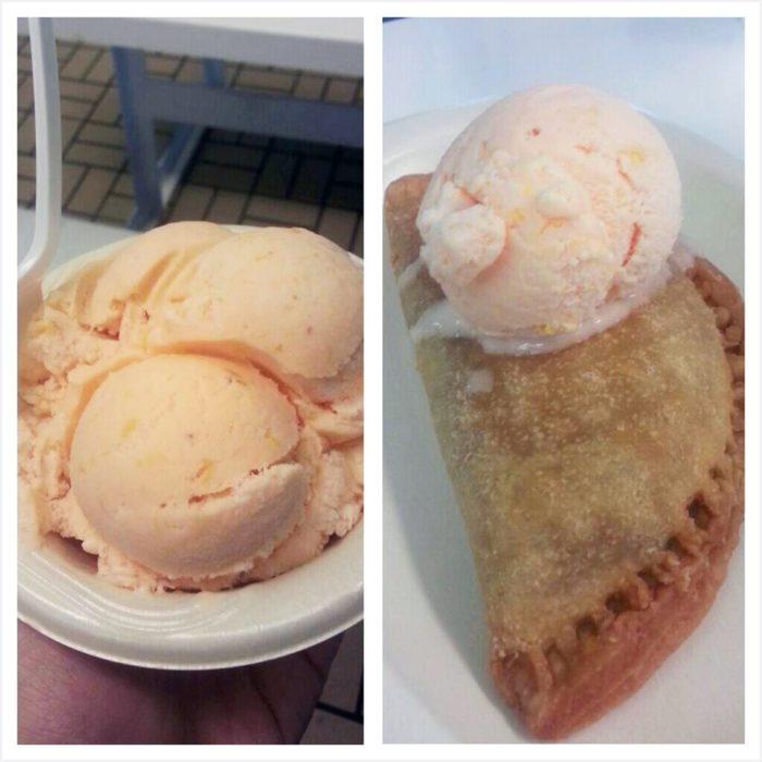 Peach Park's homemade peach ice cream and fried peach pies are amazing!