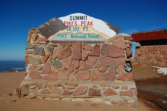 The highest point of Pikes Peak was named a National Historic Landmark in 1961.