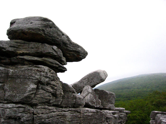 Wind and rain have sculpted the quartz and sandstone rocks into unusual formations.
