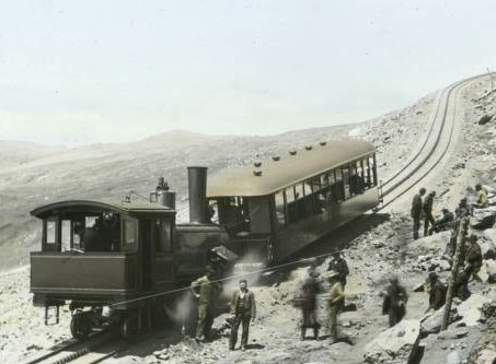 The Pikes Peak Cog Railway was founded in 1889 with limited service to the Halfway House Hotel.