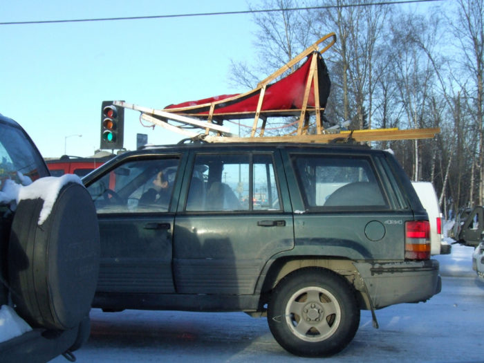 11. Or maybe a sled on the top of a vehicle being transported?