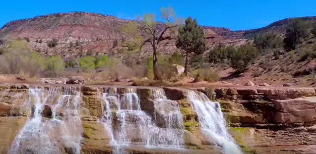 You don't need to hike to get to Toquerville Falls - you'll drive right to it!
