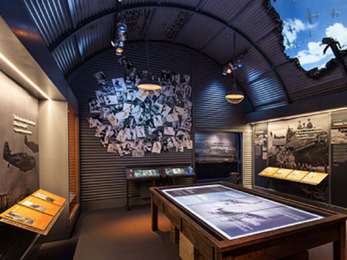 There are also numerous in depth exhibits on the history of WWII.