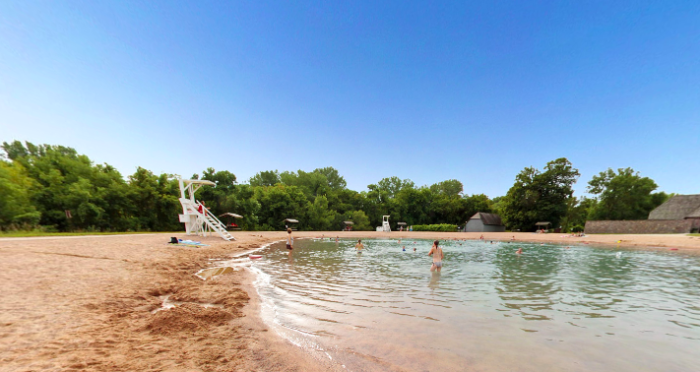 They have lifeguards on duty, and everyone will enjoy hanging around in the cool water that reaches depths of 7 feet.