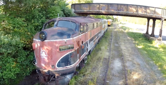 These trains were originally from the Bessemer & Lake Erie Railroad. They were eventually sold to Southern Railroad Co. of New Jersey before being left here to decay.